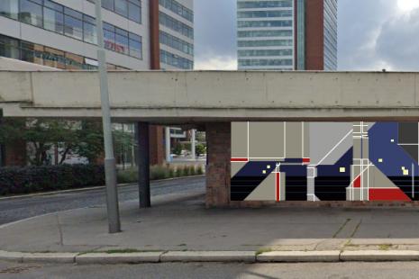 Ustanice metra Nové Butovice, ze strany autobusového terminálu, vyhrál návrh známého graffiti autora tvořícího pod pseudonymem Zebone.